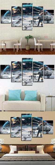 You are looking for these Star Wars Canvas that make your home to real battlefield. #starwars #canvas #decor #painting
