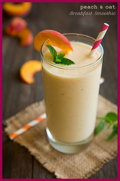 Peach & Oat Breakfast Smoothie - this smoothie is delicious! It's filling too.