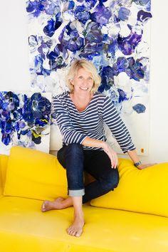 The artist, Bobbie Burgers, in her home studio. - Kyrani Kanavaros/Klik photo (Bau-Xi Gallery)