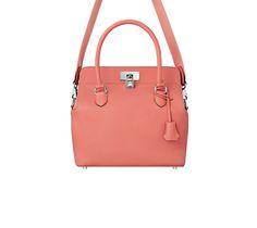 "© Hermès 2015 | Toolbox | Handbag in Evercolor calfskin | Measures 10"" x 10"" x 7"" |  3 big pockets, adjustable strap | Silver and palladium plated hardware | Color: Flamingo Pink | Ref. H064478CKI5 |  $8,650.00"