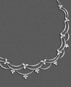 Diamond Web Necklace in White Gold ct. Antique Jewellery Designs, Antique Jewelry, Jewelry Design, Jewelry Ideas, Pearl Jewelry, Diamond Jewelry, Jewelery, Sterling Silver Toe Rings, Jewelry Drawing