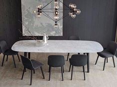 Rectangular marble table MAD DINING TABLE Mad Collection by Poliform design Marcel Wanders Source by koumaly Modern Dining Table, Dining Room Table, Table And Chairs, Dining Chairs, Marble Dining Tables, Room Chairs, 8 Seater Dining Table, Modern Chairs, Luxury Dining Room