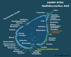 Map of Faafu Atoll Maldives A t o l l F a a f u Pinterest