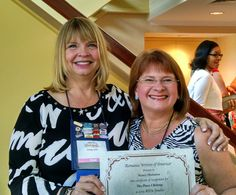 RWA president Cindy Kirk presents me with my RITA nominee certificate at the 2015 RWA conference in NYC. What an amazing lady and writer Cindy is!