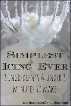 Simplest Icing Ever: If You Can Boil Water You Can Make This Icing This recipe for icing is so simple. If you can boil water you can make this icing. Great for topping cakes, cookies, cupcakes and more. Simplest icing ever. Vanilla Buttercream Frosting, Icing Frosting, Pudding Frosting, Whipped Icing, Glaze Icing, Homemade Whipped Cream, Torta Minion, Cake Recipes, Dessert Recipes
