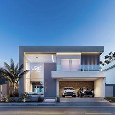 Classic House Exterior, Modern Exterior House Designs, Modern House Plans, Exterior Design, House Gate Design, House Front Design, African House, Modern Villa Design, Minimalist House Design