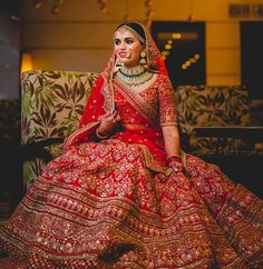 That's one happy bridal twril.this beautiful lehenga outfit is perfect for bridal.get this outfit from nivetas design studio. Contact us … Wedding Lehenga Designs, Indian Wedding Lehenga, Designer Bridal Lehenga, Bridal Lehenga Choli, Indian Bridal Outfits, Indian Bridal Fashion, Indian Bridal Wear, Indian Wear, Bridal Lehngas