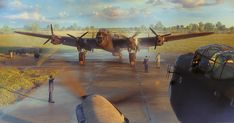 Lancaster running engines before her last mission. Ww2 Aircraft, Military Aircraft, Cute Pictures, Cool Photos, Ww2 Pictures, Military Flights, Lancaster Bomber, Airplane Art, Ww2 Planes