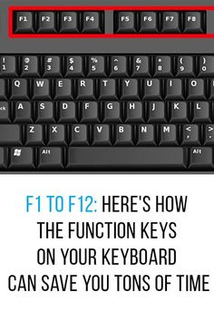 We have all seen function keys before. They are those keys marked to on our computer keyboards. Most of us rarely use these keys when at the computer, but knowing how to use them can be really helpful. Computer Shortcut Keys, Computer Basics, Life Hacks Computer, Iphone Life Hacks, Computer Class, Computer Help, Computer Internet, Computer Keyboard, Computer Tips
