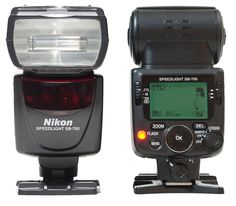 Nikon SB-700 Speedlight flash (front & back)