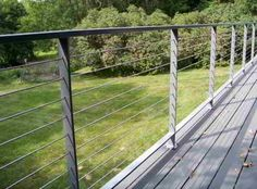Deck, patio, porch, balcony cable railing modern deck