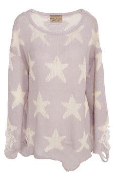 Like a star: Trendy Pullover in Flieder von Wildfox.