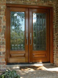 Elegant Decorative Front Entry Doors