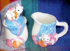 Cat creamer and sugar set