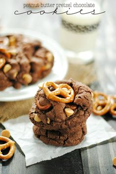 Peanut Butter Pretzel Chocolate Cookies