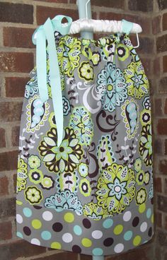 Pillowcase Dress  Gray Paisley with Polka Dot by LalaBirdBoutique, $18.00 and I already have this material