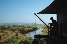 Four Seasons Tented Camp Golden Triangle, Chiang Rai. Views of three countries—Thailand, Myanmar and Laos