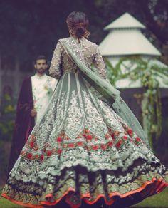 High Fashion Pakistan — Elan's 'Palais Indochine' bridal collection. Pakistani Couture, Pakistani Wedding Dresses, Pakistani Outfits, Indian Dresses, Indian Outfits, Wedding Mint, Boho Wedding, Wedding Suits, Dream Wedding