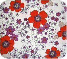70s Floral Retro Fabric -