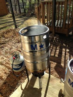 We've spotted you! Propane is not just for grilling as shown here brewing beer.   What do you use Blue Rhino propane for?