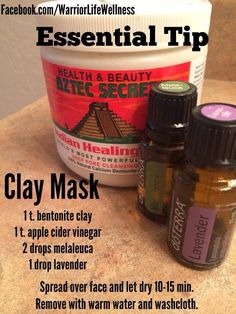 oils- clay mask Easy ordering and contact information on my web page! /jenniferfrechmannEssential oils- clay mask Easy ordering and contact information on my web page! Essential Oil Uses, Young Living Essential Oils, Aztec Clay, Homemade Beauty, Diy Beauty, Beauty Hacks, Clay Masks, Doterra Essential Oils, Beauty Recipe