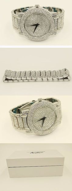 Other Mens Jewelry 177770: Techno Watch And Bracelet Set Iced Out In Silver Color -> BUY IT NOW ONLY: $70 on eBay!