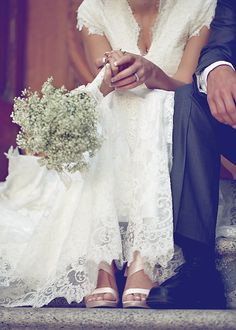 Love the baby's breath bouquet