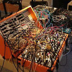 Keith Fullerton Whitman's live setup.