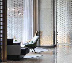 """Huanshi"" Hotel in Shenzhen | Design Plus-Jiane Interior Design Network-Design Case Shenzhen, Hotel Lobby Design, Lobby Lounge, Holiday Hotel, Wall Treatments, Design Awards, Interior Design Living Room, Wall Design, Interior Architecture"