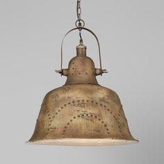 Lámpara colgante INDUS verde envejecido #homedeco #iluminacion #vintage