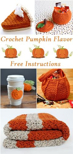 Crochet Pumpkin Flavor projects for october and Halloween