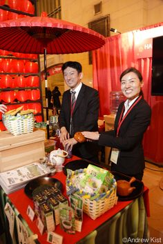Harada Tea's refreshing green tea samples