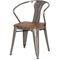Merveilleux Grand Metal Arm Chair GUNMETAL