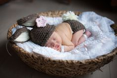 infant baby bunny set by SweetBabiesinYarn on Etsy, $44.00
