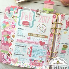 I used the Cream & Sugar collection from Doodlebug to make dashboard, weekly layout and envelope for my planner Digital Bullet Journal, Bullet Journal Mood, Bullet Journal Ideas Pages, Bullet Journal Inspiration, Kawaii Planner, Cute Planner, Happy Planner, Planner Ideas, Planner Decorating