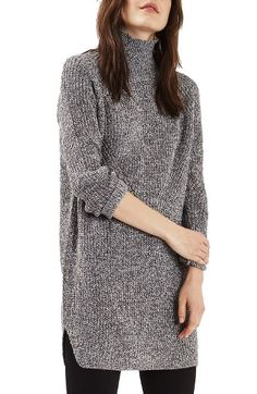 Free shipping and returns on Topshop Grunge Funnel Neck Sweater Dress at Nordstrom.com. Twisted monochrome yarns and shape-defining stitches define a soft sweater-dress that gives you a warm, cuddly feeling from neck to thigh.