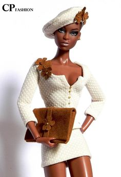 CP ITALIAN STYLE handmade outfit for FASHION ROYALTY Beautiful Barbie Dolls, Vintage Barbie Dolls, Fashion Royalty Dolls, Fashion Dolls, Diva Dolls, Dolls Dolls, African American Dolls, Black Barbie, Afro