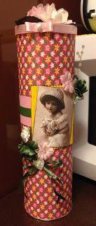 Randis hobbyverden: Dekorert pringlesboks med telys