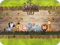 Fazendo a Propria Festa: KIT DE PERSONALIZADOS TEMA SAFARI Jungle Party, Lion Party, Jungle Theme Birthday, Safari Party, Safari Theme, Birthday Party Themes, Boy Birthday, Safari Decorations, Baby Shower Decorations