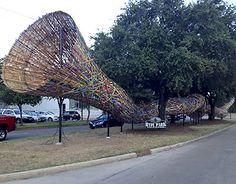 """Patrick Renner's """"Funnel Tunnel,"""" Montrose Blvd., Hyde Park, Houston"""