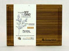 SolarMill Bamboo Cutting Board - Made in Richmond Virginia with solar power