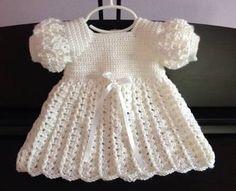 Resultado de imagem para vestido de tricô para batisado