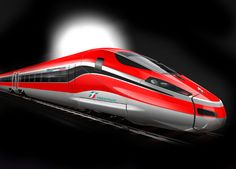 Bombardier-V300ZEFIRO  High speed train exterior red silver trenitalia fast black