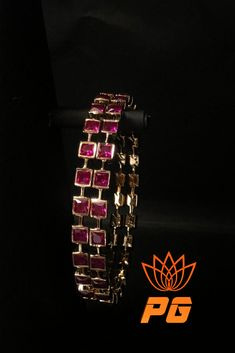 Ruby n Rubies - Vintage Setting, complete handcrafted bangles by Parshwa Gold Bangalore