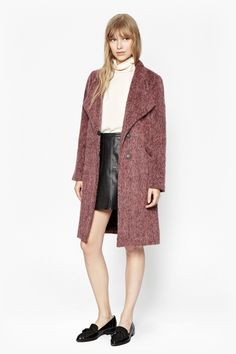 Tyler Wrap-Over Wool Coat   New Arrivals   French Connection