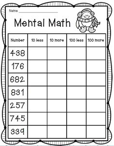 math worksheet : mental maths superheroes and math on pinterest : 3rd Grade Mental Math Worksheets