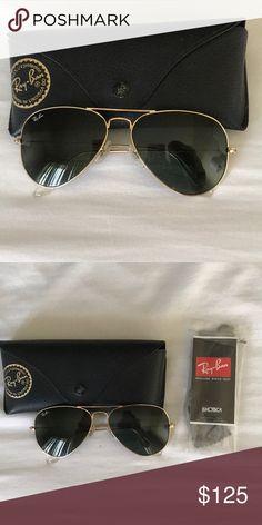 9c7f49829a Ray-Ban Aviators Gold framed Ray-Ban aviator sunglasses Ray-Ban Accessories  Sunglasses
