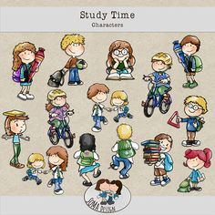 SoMa Design: Study Time - Characters Digital Scrapbooking, Study, Comics, Characters, Kit, Design, Studio, Figurines
