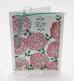 So In Love stamp set, Stampin Up, Anniversary card, Valentine card, Details at: www.stampingjo.com