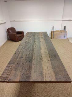 Atelier Robin Sicle 3 tailles disponibles pour ce bois recyclé : 300 x 100 260 x 100 240 x 100 Épaisseur 3 Furniture, Home Decor, Recycled Wood, Solid Wood, Decoration Home, Room Decor, Home Furnishings, Home Interior Design, Home Decoration